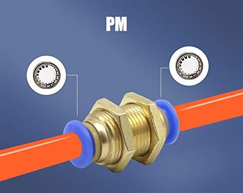 Conector de articulación neumático Tubos Racores de agua y tubo de empuje directo Conectores 4 a 12 mm de plástico manguera acoplamientos rápidos Se utiliza para conectar rápidamente tuberías de a