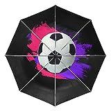 MALPLENA - Paraguas de futbolín Pesado automático Abierto portátil. Se Adapta a Hombres y Mujeres, opción de Regalo, Unisex Adulto, MN-331, 9, Talla única