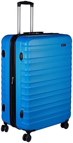 Amazon Basics - Maleta de viaje rígidaa giratoria - 78 cm, grande, Azul claro