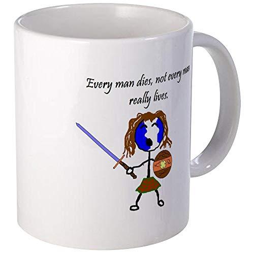 Taza de Braveheart Taza de café única Taza de café
