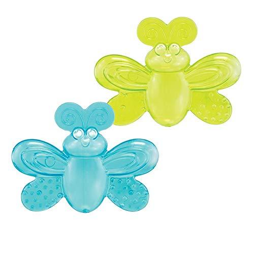 Mordedores com água Borboleta Verde e Azul - Sassy