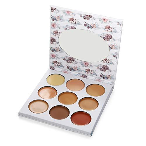 Vtrem 9 Couleurs Palette Correcteur De Teint Anti-Cernes Contour Palette Concealer Maquillage Professionnel Avec Miroir