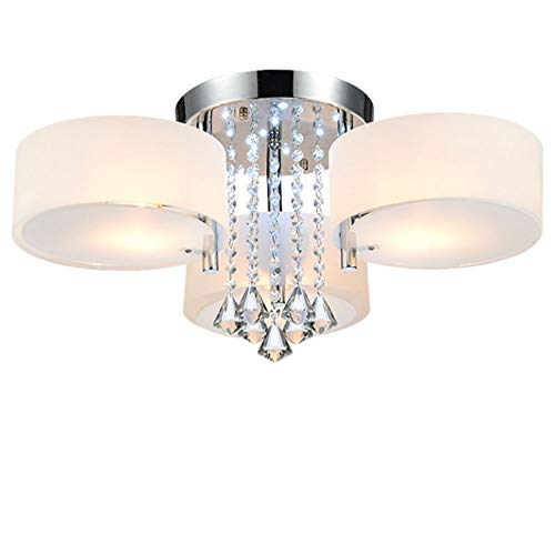 HENGMEI Kristall Deckenleuchte LED Deckenlampe Kronleuchter E27 RGB+Warmweiß Hängeleuchten Wohnzimmer 3 flammig für Wohnzimmer, Schlafzimmer (21W, 3 flammig)
