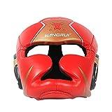 4U4 Casco de Boxeo para niños, Cabeza Protectora Completa,Rojo