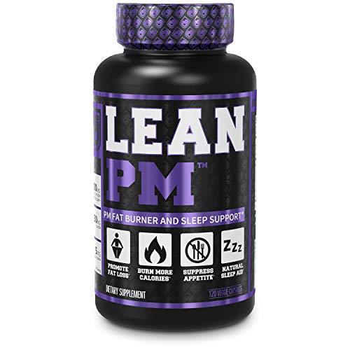 Lean PM Night Time Fat Burner, Sleep Aid Supplement, & Appetite Suppressant for Men and Women - 120 Veggie Capsule Diet Pills
