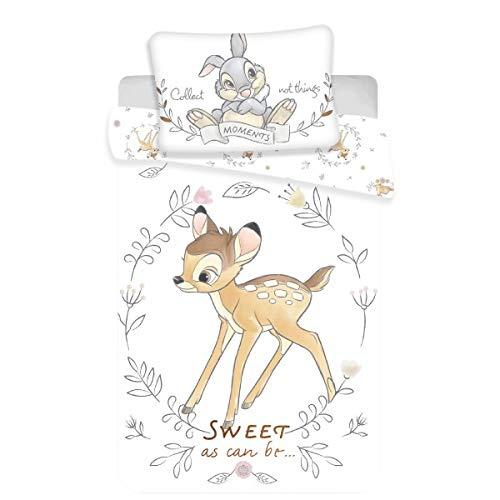 Disney Bambi Sweet - Juego de cama para bebé, funda nórdica de algodón