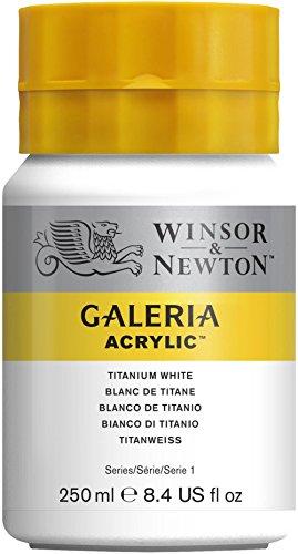 Winsor & Newton Galeria Acrylic Paint, 250ml Bottle, Titanium White