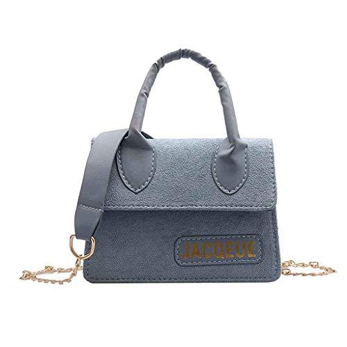 HET Damen 2019ins Nähen mattierte Tasche Mini Crossbody Nische Handtasche neue Splice Schulter einfache Handtasche