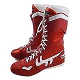JJK Pugilato, Lotta Libera Scarpe Leggero Scarpe Alte Boxing Stivali di Gomma Sole Formazione Sport Sneakers per Uomo Donna Bambini Ragazzo e Ragazze,Rosso,44