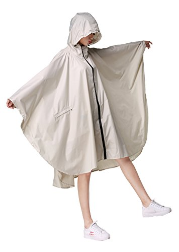 ファッション防水レインコート通学 通勤 自転車用雨衣 (白い, ワンサイズ)