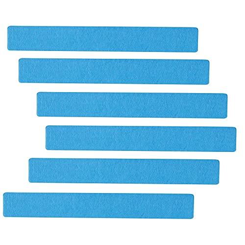 Fransande 6 piezas de fieltro, pizarra de señalización con barra autoadhesiva, para oficina, sala de clase o casa, pared decorativa, color azul