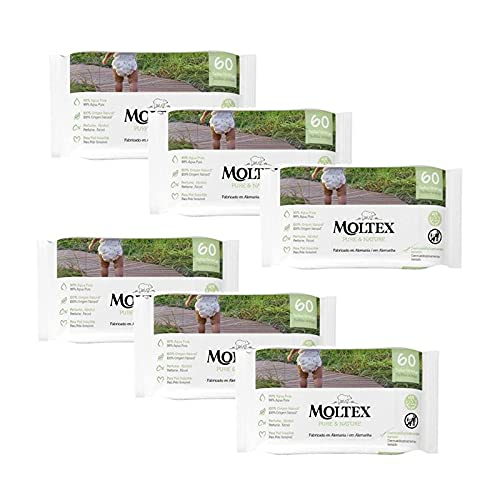 Pack 6 x Toallitas Moltex Pure & Nature 60 Uds