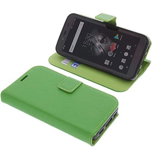 foto-kontor Tasche für Blackview BV5500 / BV5500 Pro Book Style grün Schutz Hülle Buch