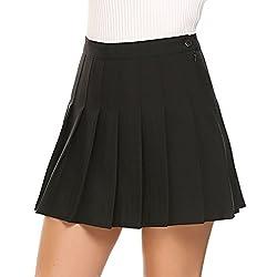 Shine Womens High Waist Pleated Mini Skirt Sport Skort