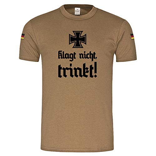 Copytec BW Tropen Klagtnicht trinkt original BW Tropenshirt #14966, Größe:XL, Farbe:Khaki