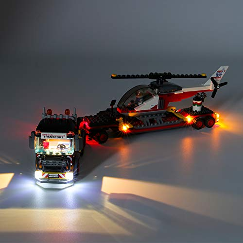 HLEZ Juego de Luces LED de para Transporte de Carga Pesada de la Ciudad Modelo de Bloques de Construcción, Kit de luz LED Compatible con Lego 60183 (Modelo Lego no Incluido)
