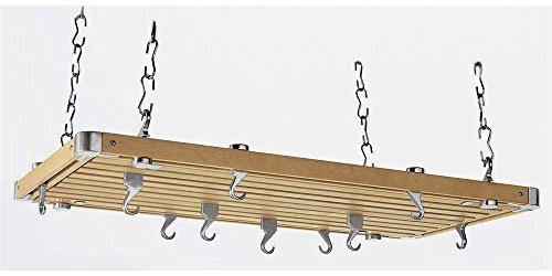 Concept Housewares Pot Rack Natural Colored Rectangular Natural 36 inch