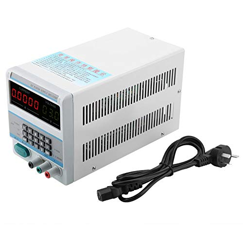 Fuente de alimentación estabilizada de CC, fuente de alimentación estabilizada digital de pantalla clara, con accesorio de luz de fondo con dial de(Australian regulations)