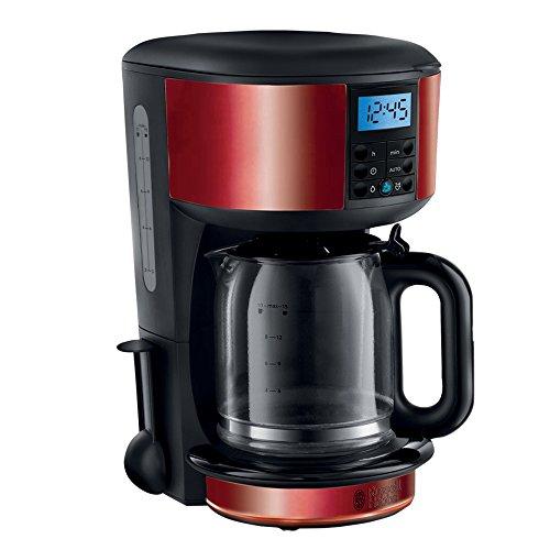 Russell Hobbs Digitale Kaffeemaschine Legacy, programmierbarer Timer, bis 10 Tassen, 1,25l Glaskanne, 1000W, Schnellheizsystem, Warmhalteplatte, Abschaltautomatik, Filterkaffeemaschine 20682-56