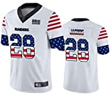 Maillot de Jeunesse Las Vegas Raiders Jacobs 48# American Football Jerseym, Sportswear Rugby Jersey Fan T-Shirts Top Short Training Clothing Unisex School Student Jersey-White-L(180~185)