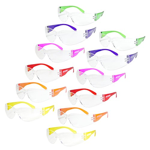 JORESTECH Eyewear Protective Safety Glasses Polycarbonate Impact Resistant Lens Pack of 12 MultiColors