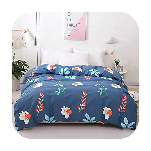 Bed Sheet 1 pcs Cotton Duvet Cover Twin King Queen Full Size Fabric Quilt Cover Multi-color and Multi-size Optional Flower Pattern-060-240X220cm