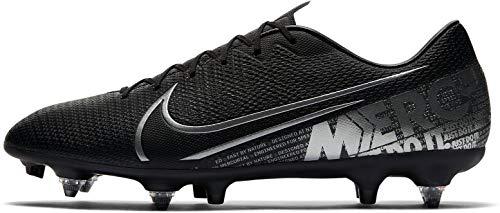 Nike Vapor 13 Academy SG-Pro AC, Botas de fútbol Hombre, Black/Mtlc Cool Grey/Cool Grey, 45.5 EU