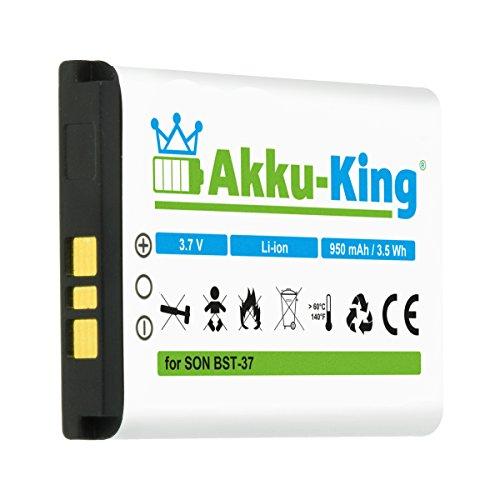 Akku-King Akku kompatibel mit Sony-Ericsson BST-37 - für K750i D750i K600i K608i K610i V600i V630i W550i W700i W710i W800i W810i - Li-Ion