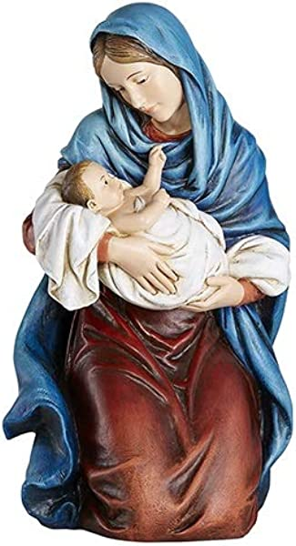 Woodington S Avalon Gallery Kneeling Madonna And Child 12 Inch Statue