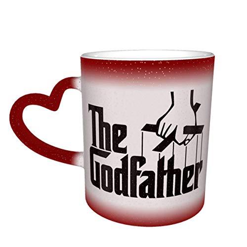 N\A Taza Que Cambia de Color del Padrino Gran Diseño de Taza de café Taza de cerámica Sensible al Calor Taza Que Cambia de Color en el Cielo