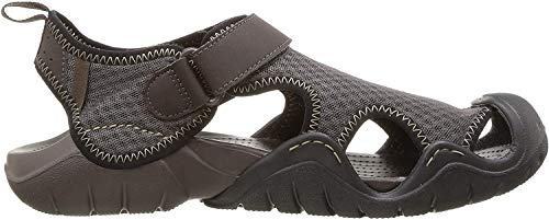 Crocs Swiftwater Sandal Men, Herren Sandalen, Braun (Espresso/Espresso), 41/42 EU