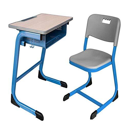 N&O Renovierung Haus Tische Möbel Schreibtisch und Stuhl Set Feste Höhe Schreibtische Stühle mit Schublade und Aufhängehaken Gelb