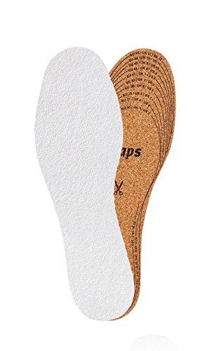 Kaps Naturkork Schuheinlagen mit Frottee – ultraleichte Kork & Frottee Einlegesohlen für Damen und Herren Frottee & Kork Einlegesohlen zum Zuschneiden in allen Größen