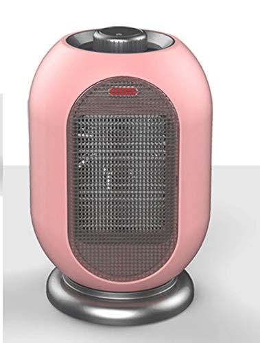 JFSKD ventilatorkachel van keramiek, 1200 W, kleine elektrische verwarming, kleine groothoek-design, afdekking van net, geïntegreerde draaiknop met antislip onderkant