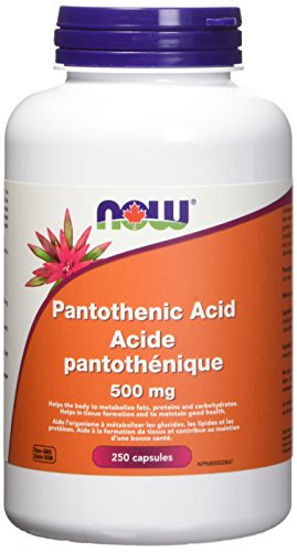 NOW Pantothenic Acid 500mg 250 Capsules, 250 g