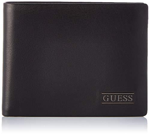 Guess - New Boston, Carteras Hombre, Negro (Black), 2.5x9.6x12.2 cm (W x H L)