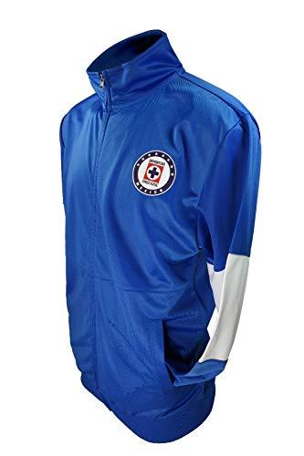 Cruz Azul Icon Sports Men Official Licensed Soccer Jacket Football 002- Medium Blue