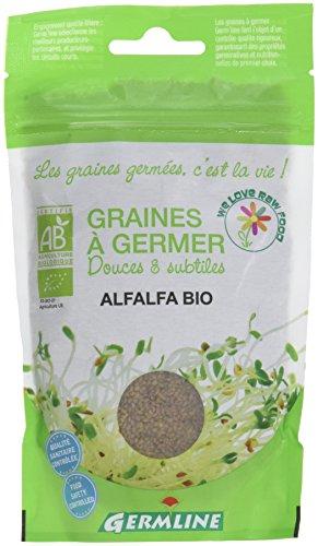 Germ'Line Graines à Germer Alfalfa bio -150 g - Lot de 3
