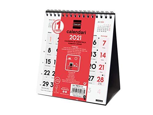 Calendarios Grandes 2021 Numeros Grandes Marca Finocam