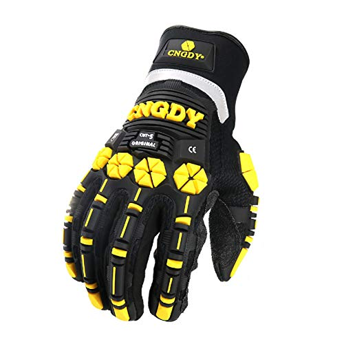 CNGDY Safety Work Gloves,High-Vis Anti-Impact Mechanics Safety Rescue Resistant Oil
