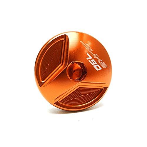 Capuchon de réservoir de Carburant de Frein arrière de Moto pour Le duc 790 Duke 2019 2020 2020 2021 Moto Moteur Filtre Filtre à Huile Couvre-bouillot Vis Moto Accessoires (Color : Orange)