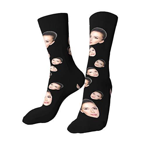 InspirsPanda Gesichtssocken personalisiert, Fotosocken, mehrere Gesichter, setzen Sie Ihr Gesicht auf Socken für Männer, Frauen