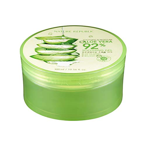 Nature Republic New Soothing Moisture Aloe Vera Gel 92 Percent Korean Cosmetics, 10.56 Fluid...