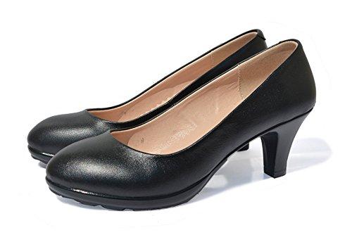 NINGUTA NINGUTA , Damen Durchgängies Plateau Sandalen mit Keilabsatz, schwarz - schwarz - Größe: 36 EU