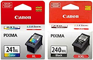 Canon PG-240XXL Extra High Capacity Black Ink Cartridge (5204B001) + CL-241XL Color Ink Cartridge (5208B001)