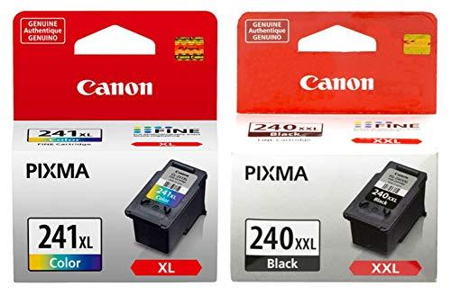 Canon PG-240XXL Extra High Capacity Black Ink Cartridge (5204B001) + CL-241XL Color Ink Cartridge (5208B001)
