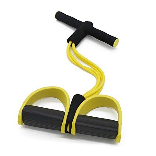 Bands resistenza alla trazione elastico Corde ginnico addominale vogatore Belly Home Gym Sport Training elastici per attrezzi Fitness Workout, Fitness, Fisioterapia, Yoga, Pilates e Stretching,4 tubo
