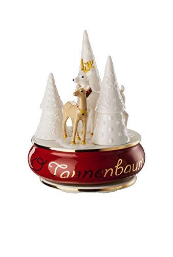 Hutschenreuther Sammelserie Weihnachtslieder-O Tannenbaum Spieluhr groß, Porzellan, Bunt, 13 x 13 x 17 cm