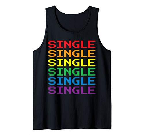 Single | Lesbian Gay Pride LGBT LGBTQ Retro Gamer Tank Top