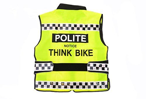 Equisafety Polite - Gilet Riflettente ad Alta visibilità per Ciclismo/Motociclismo, Regolabile, Colore: Giallo, Giallo (N/A), XL